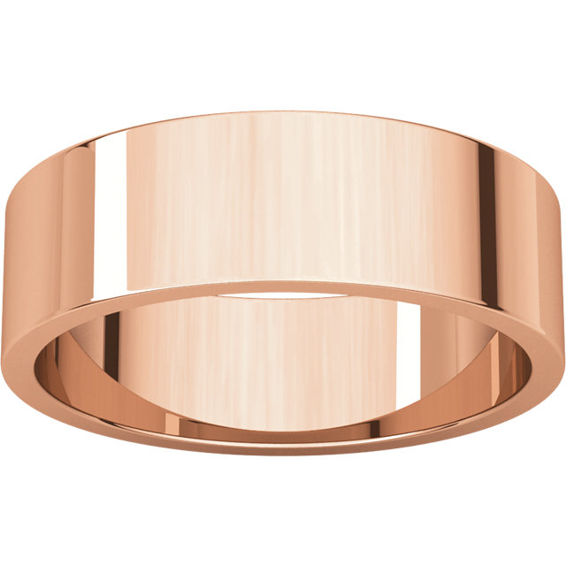 Flat Rose Gold Band alternate view