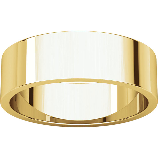 Flat Yellow Gold Band alternate view