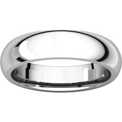 Comfort Fit White Gold Men's Band alternate view