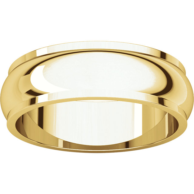 Half Round Edge Men's Band Yellow Gold alternate view