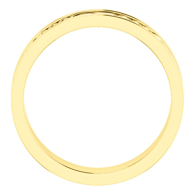 Celtic Inspired Yellow Gold Men's Band through view - 51838