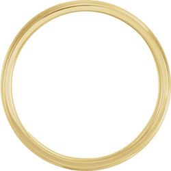 Lightweight Beveled Yellow Gold Men's Band through view  - 51287