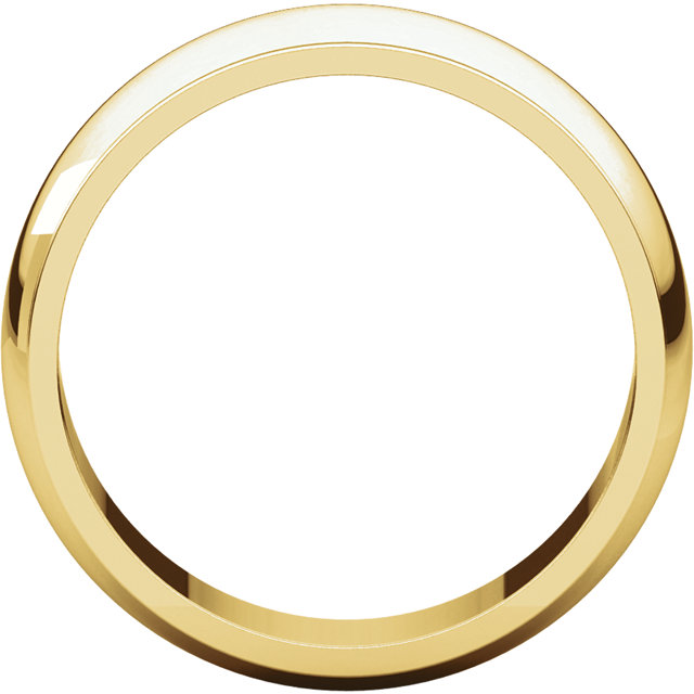 Half Round Edge Men's Band Yellow Gold through view