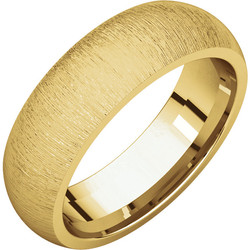 Comfort Fit Yellow Gold Men's Band Stone finish