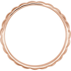 Grooved Bar Rose Gold Men's Band through view - 51775