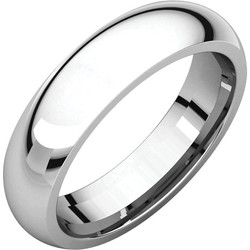 Comfor Fit White Gold Men's Band