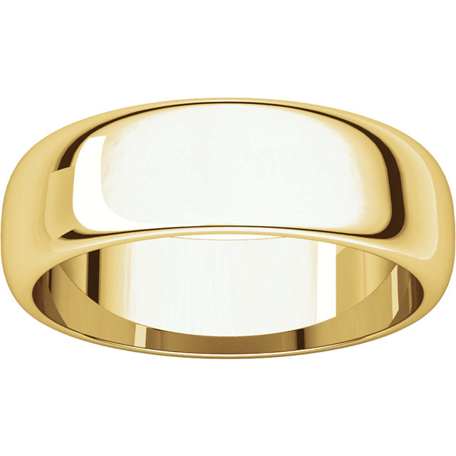 Half Round Men's Band Yellow Gold alternate view