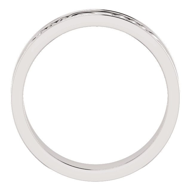 Celtic Inspired White Gold Men's Band through view - 51838