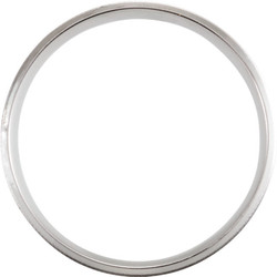 Lightweight Beveled White Gold Men's Band through view  - 51287