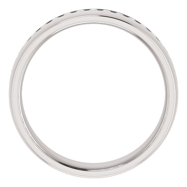 White Gold Diamond Center Accented Band 1.7 mm accent stones through - 123307