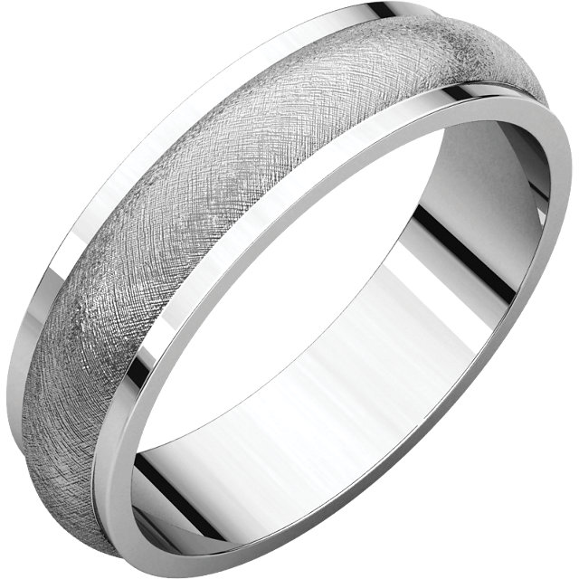 Half Round Edge Men's Band Ice finish
