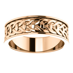 Rose Gold 7mm Woven Design alternate view - 51862