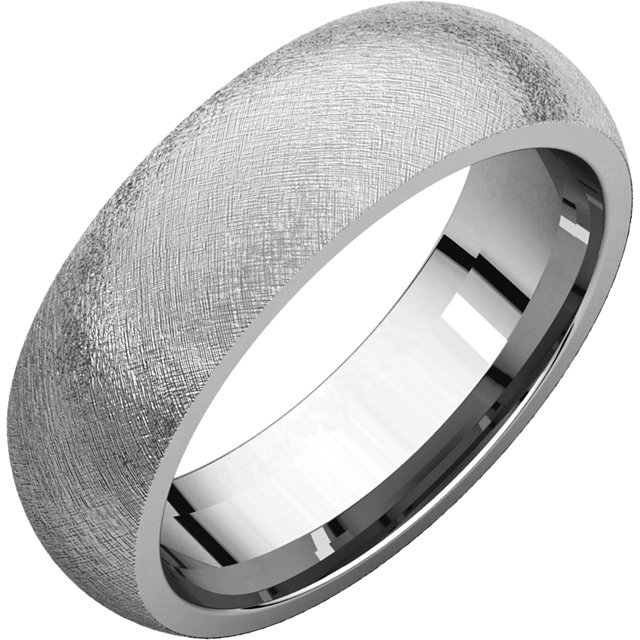 Comfort Fit White Gold Men's Band Ice finish