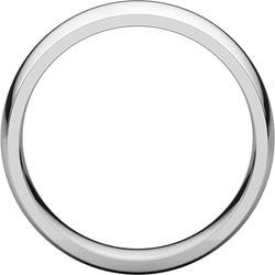 Comfort Fit Light White Gold Men's Band through view