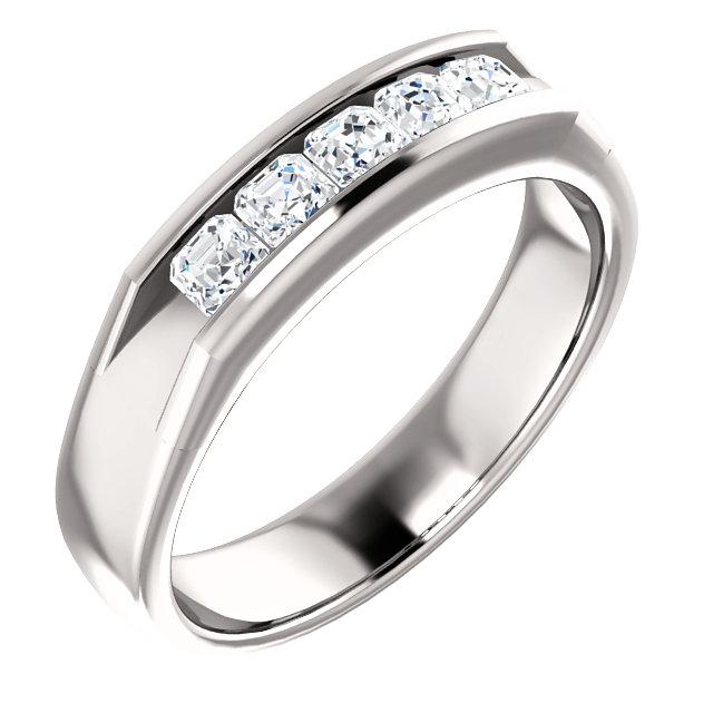 Five Stone Asscher Cut Diamonds 3x3mm - 122785