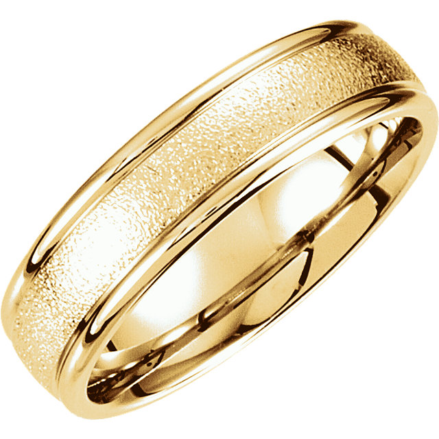 Fancy Carved Yellow Gold Men's Band - 51184