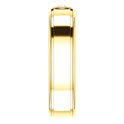 Solitaire 3mm Round Diamond .10 CTW Yellow Gold side view - 123478