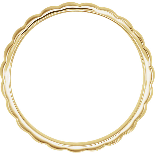 Grooved Bar Yellow Gold Men's Band - 51775