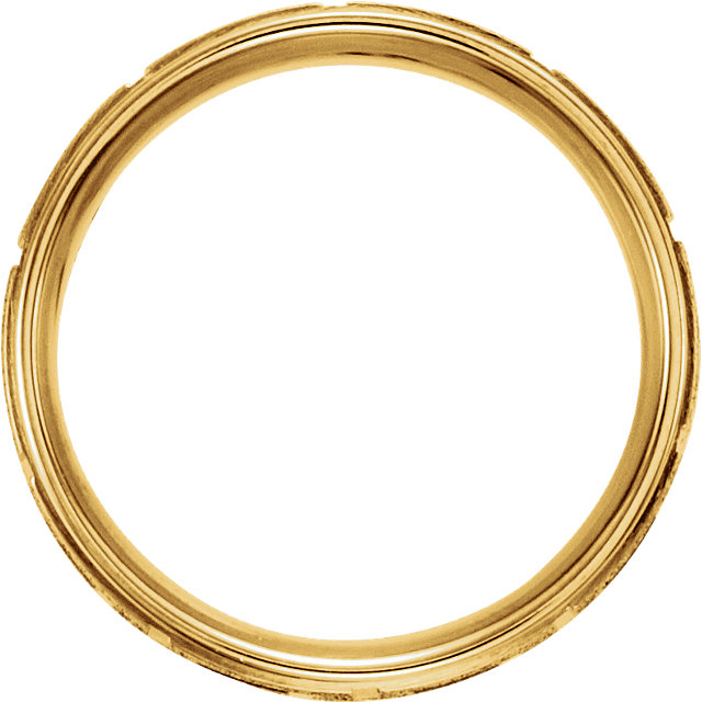 Greek Key Comfort Fit Ring 7mm Yellow Gold through view - 50680