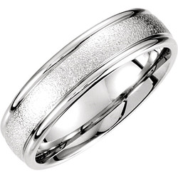 Fancy Carved White Gold Men's Band - 51184