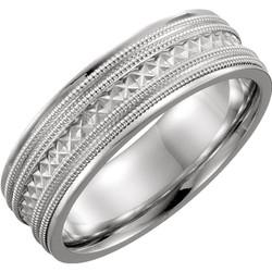 Design Engraved Milgrain White Gold - 51327