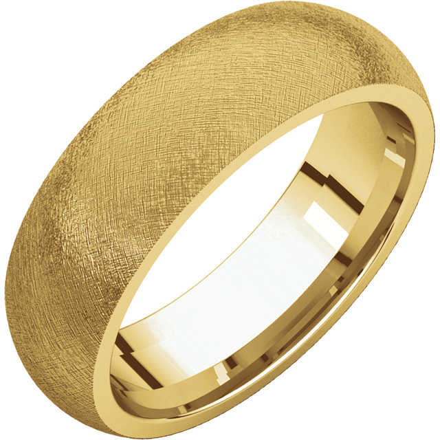 Comfort Fit Yellow Gold Men's Band Ice finish