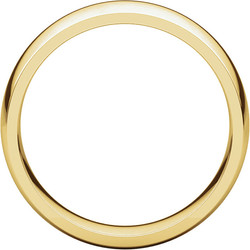 Comfort Fit Light Yellow Gold Men's Band through view
