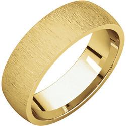 Comfort Fit Light Yellow Gold Men's Band Stone finish