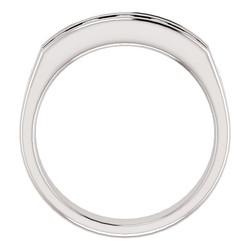 Five Stone 3.8mm Round Diamond Men's Band White Gold through view - 122785