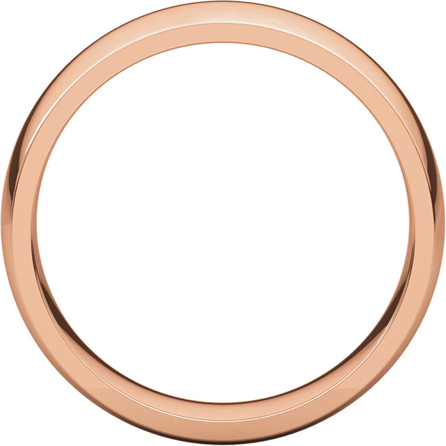 Comfort Fit Light Rose Gold Men's Band through view