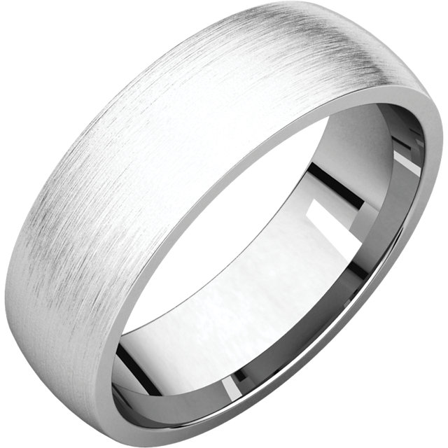Comfort Fit Light White Gold Men's Band Brushed finish