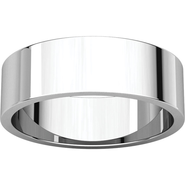 Flat White Gold Band alternate view