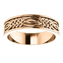 Celtic Inspired Rose Gold Men's Band alternate view - 51838