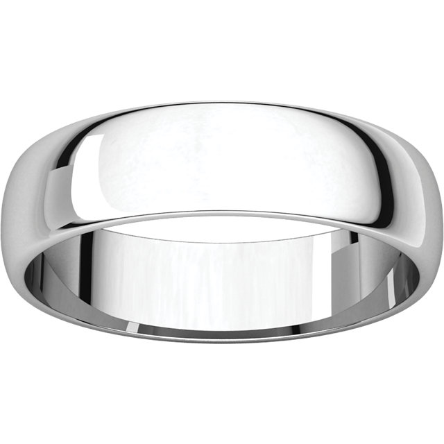 Half Round Light Men's Band White Gold alternate view