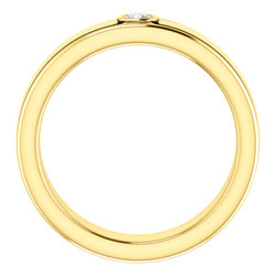 Solitaire 3mm Round Diamond .10 CTW Yellow Gold through - 123478
