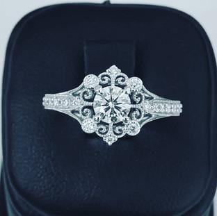Custom Engagement Ring 490