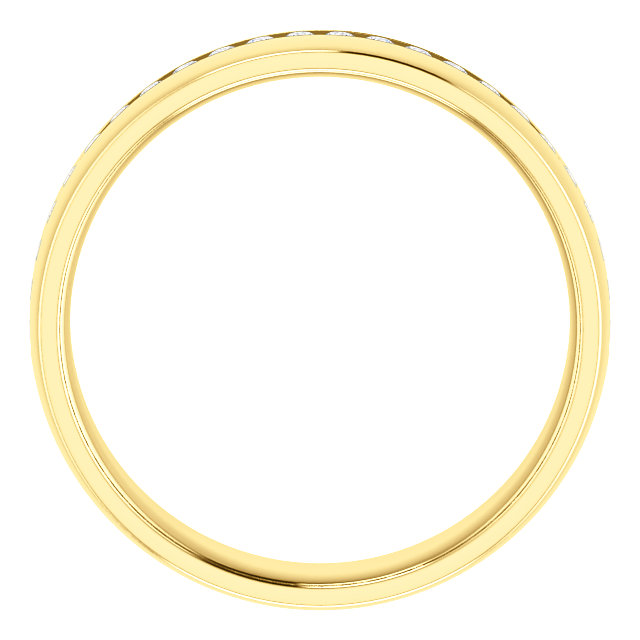 Yellow Gold Diamond Center Accented Band 1.7 mm accent stones through - 123307