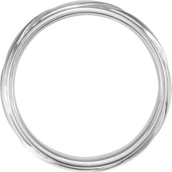 White Gold Fancy 6.5 mm Wedding Band through view - 653070