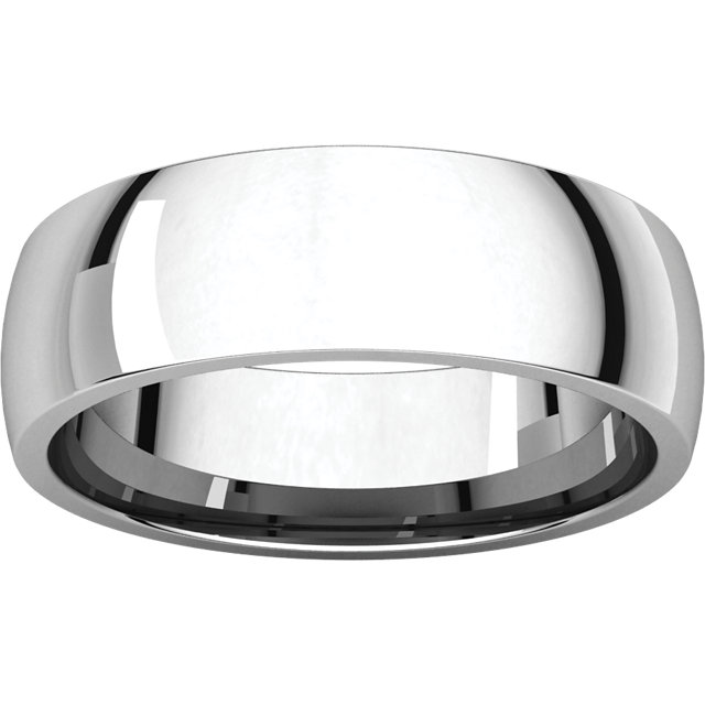 Comfort Fit Light White Gold Men's Band alternate view