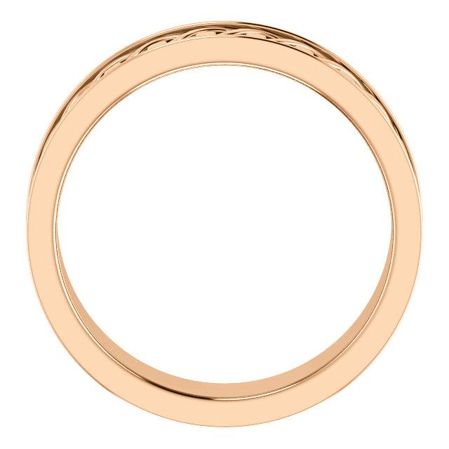 Rose Gold 7mm Woven Design through view - 51862