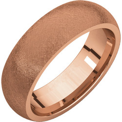 Comfort Fit Rose Gold Men's Band Ice finish
