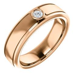 Solitaire 3mm Round Diamond .10 CTW Rose Gold - 123478