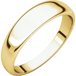 Half Round Tapered Yellow Gold