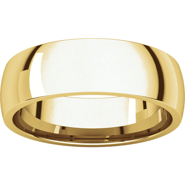 Comfort Fit Light Yellow Gold Men's Band alternate view