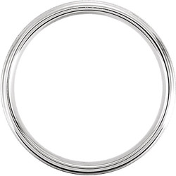 Fancy Carved White Gold Men's Band through view - 51184