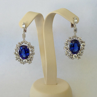 Sapphire and Diamond Custom Earrings 332