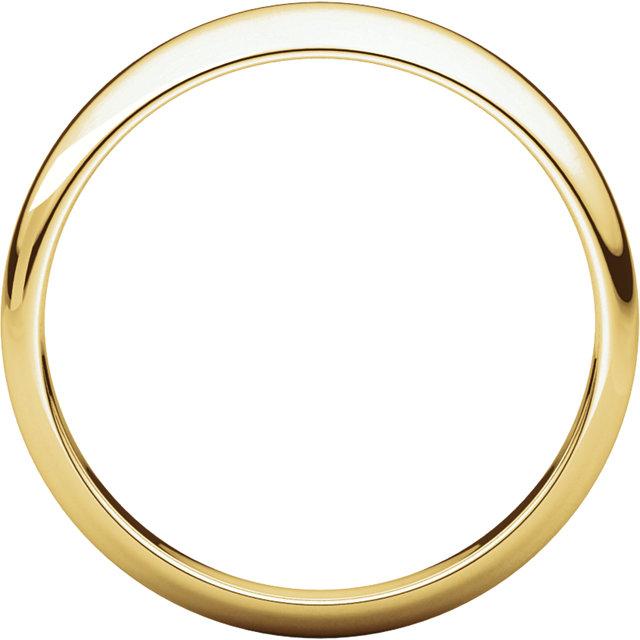 Half Round Tapered Yellow Gold through view