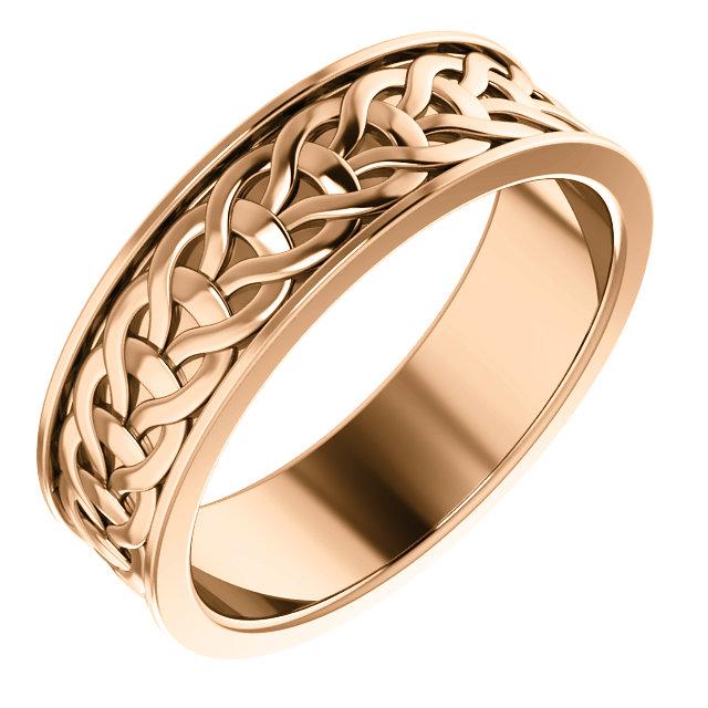 Rose Gold 7mm Woven Design - 51862