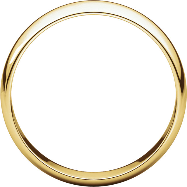 Half Round Light Men's Band Yellow Gold through view