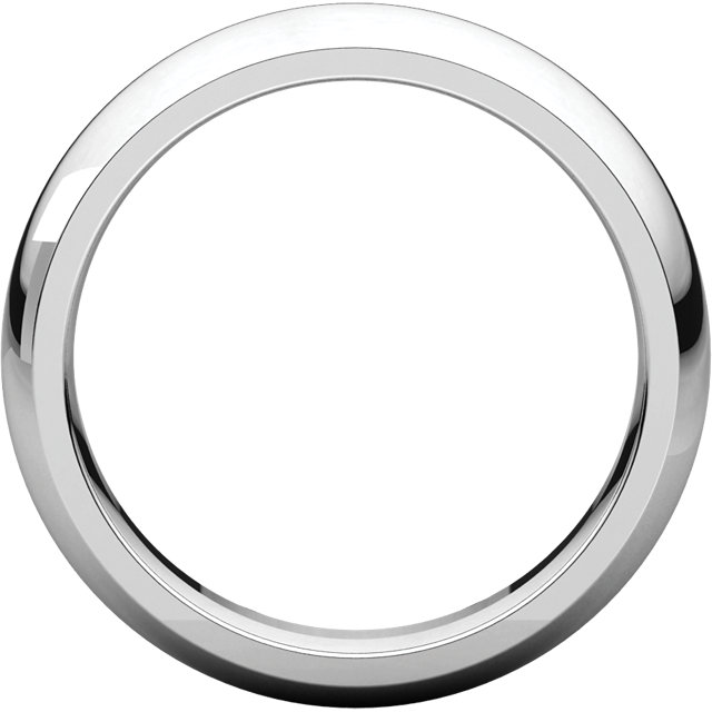 Comfort Fit White Gold Men's Band through view